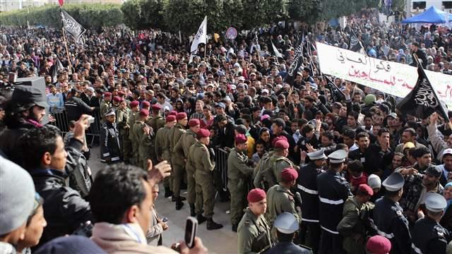 تیونس میں دوبارہ مظاہروں کا آغاز