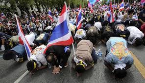 تھائی لینڈ میں مظاہرین ایک مرتبہ پھر سڑکوں پر