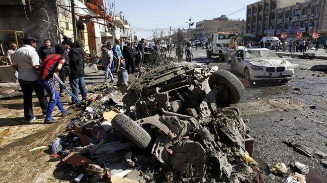 شام کے شہر حلب میں حکومتی طیاروں کی بمباری کے بعد کے مناظر