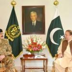 وزیر اعظم نواز شریف سیاسی بحران کے حل کے لیے جنرل راحیل شیریف سے ملاقات