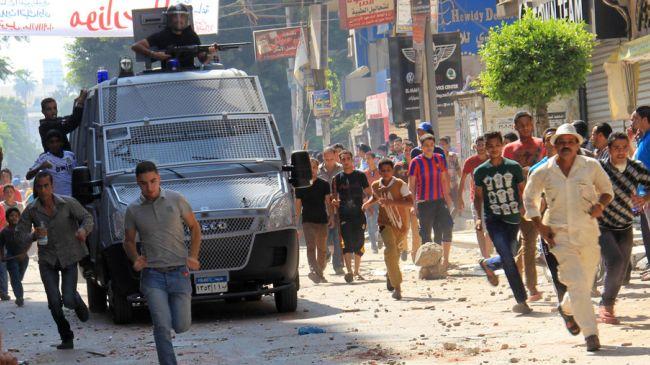 عبد  الفتح  السیسی کے خلاف مظاہروں پر فائرنگ سے 4 اخوان کارکن شہید