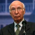 پاکستان کے مشیر خارجہ سرتاج عزیز