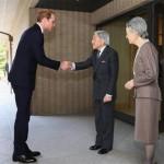 جاپان کے شہنشاہ اور ملکہ  سے  برطانوی شہزادے کی  ملاقات