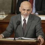 افغانستان کے صدر اشرف غنی امریکی کانگریس سے خطاب کرتے ہوئے