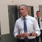 بھی امریکی صدر کا جیل کا پہلا دورہ تھا