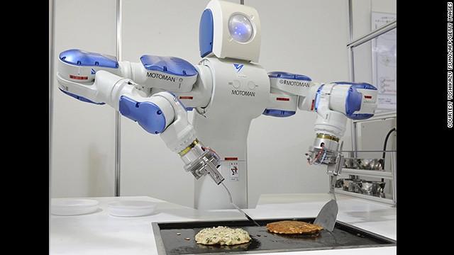 پین کیک عام طور پر ماہر باورچی ہی بناتے ہیں مگر اب ان کی جگہ روبوٹ پین کیک بنائیں گے