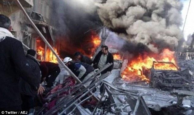 شام میں مارکیٹ پر وحشیانہ روسی بمباری، 60 شہید