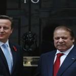 پاکستانی وزیر اعظم نواز شریف اور برطانوی وزیر اعظم ڈیوڈ کیمرون