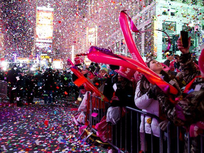 ٹائمز اسکوائر میں جمعرات کی رات سال نو کی تقریب میں 10 لاکھ سے زائد افراد شریک ہوں گے