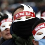 جنوبی کوریا میں ہزاروں افراد نے حکومت مخالف ایک ریلی میں حصہ لیا