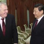 چین کے صدر ژی چن پنگ اور جمہوریہ چیک کے صدر میلاس زیمان