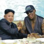 امریکی باسکٹ بالریٹائرڈ کھلاڑی ڈینس روڈمین اور شمالی کوریا کے سربراہ کم جونگ ان