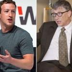 مائیکرو سافٹ  کے بانی بل گیٹس اور فیس بک کے سی ای او مارک زکربرگ