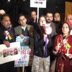 ٹین  ڈاوننگ سٹریٹ لندن میں کشمیریوں کا تاریخ ساز احتجاجی مظاہرہ