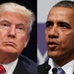 امریکی صدر  باراک اوباما اور ٹرمپ