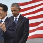 جاپانی وزیر اعظم شنزو آبے اور امریکی  صدر باراک اوباما