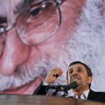 ایران  کے سپریم لیڈر آیت اللہ علی خامنہ ای اور سابق صدر محمود احمد نژاد