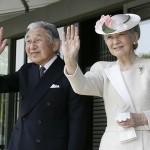 ملکہ جاپان میچیکو ان کے شوہر شہنشاہ آکی ہیتو