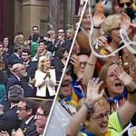 کاتالونیا کے 155 اراکین پر مبنی ایوان میں اسپین سے آزادی کے حق میں 66 افراد نے ووٹ ڈالے، اپوزیشن کے 77 اراکین نے واک آئوٹ کیا