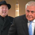 امریکی وزیر خارجہ ریکس ٹلرسن اور شمالی کوریا کے رہنما کم جونگ ان