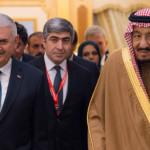 سعودی عرب کے فرماں روا شاہ سلمان بن عبدالعزیز اور ترک وزیر اعظم بن علی یلدرم