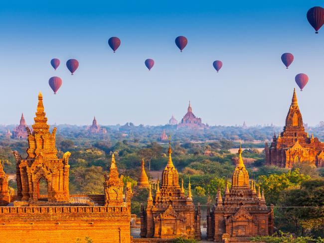 میانمار بھی ان خوبصورت مقامات کی فہرست میں شامل ہے