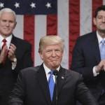 امریکی صدر ڈونلڈ ٹرمپ نے پہلے ''اسٹیٹ آف دی یونین'' سے خطاب