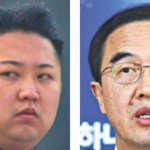 جنوبی کوریا کے وزیر چومائی اونگ گیان اور شمالی کوریا کے رہنما کم جونگ ان