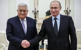 فلسطینی صدر محمود عباس اور روسی صدر ولادیمیر پیوٹن