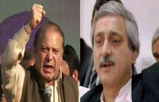سابق وزیر اعظم نواز شریف اور تحریک انصاف کے رہنما جہانگیر ترین