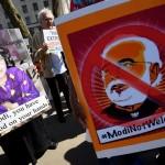 مودی کی برطانیہ آمد پر پارلیمنٹ سکوائر کے باہر مظاہرین کا احتجاج