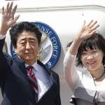 جاپانی وزیر اعظم شنزو آبے اور ان کی بیوی آکی آبے
