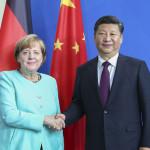 جرمن چانسلر انجیلا مرکل اور چینی صدر شی جن پنگ