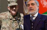 افغان چیف ایگزیکٹو عبداللہ عبداللہ اور  نیٹو اتحاد کے امریکی کمانڈر جنرل جان نکلسن