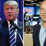 امریکی صدر ٹرمپ اور سی این این کے صدر جیف زکر