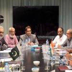 انڈس واٹر کمشنر مہر علی شاہ نے پاکستانی ٹیم کی سربراہی کی جبکہ بھارتی وفد کی قیادت پی کے سیکسینا نے کی