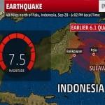 انڈونیشیا میں 7.5 کا شدید زلزلہ