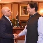 وزیر اعظم عمران خان  اور برطانیہ وزیر داخلہ ساجد جاوید