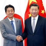جاپان کے وزیر اعظم شنزو آبے اور چینی صدر شی جن پنگ