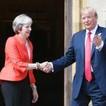 امریکی صدر ڈونلڈ ٹرمپ اور برطانوی وزیر اعظم تھریسامے
