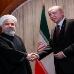 ترکی کے صدر رجب طیب اردگان اور ایران کے صدر حسن روحانی