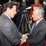 ملائیشیا کے وزیر اعظم مہاتیر محمد اور وزیر اعظم عمران خان