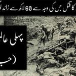جنگ عظیم اول 1914ء سے 1919ء تک لڑی جاتی رہی