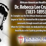 ریبیکا لی کرمپلر کا نام پہلی سیاہ فام خاتون کے طور پر لیا جاتا ہے جنھوں نے امریکا میں فزیشن اور ڈاکٹر آف میڈیسن کی حیثیت سے شہرت حاصل کی