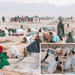 افغانستان میں خانہ جنگی اور قحط کے باعث نقل مکانی کرنے والے سیکڑوں خاندان کھلے آسمان تلے رہنے پر مجبور ہیں