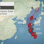 جاپان کے شمالی علاقے سمندری طوفان کروسا کی زد میں ہیں