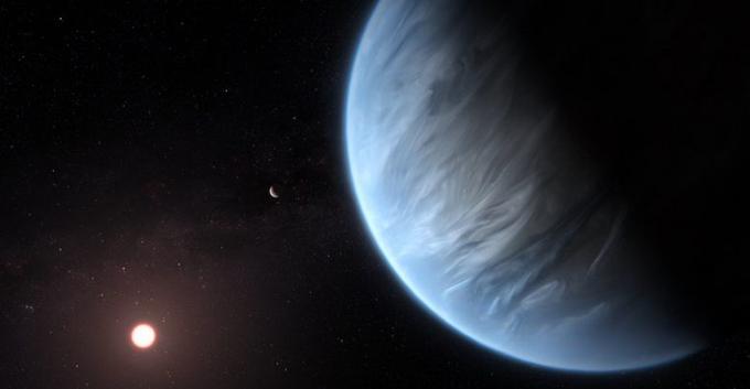 سائنس دانوں نے پہلی بار ایک ایسے سیارے پر زندگی کی بنیادی ضرورت پانی کو تلاش کیا ہے جہاں زندگی ممکن ہو سکتی ہے