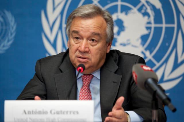 اقوام متحدہ کے سکریٹری جنرل انتونیو گوٹیرس