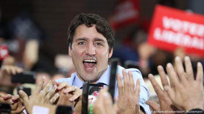 جسٹن ٹروڈو کی لبرل پارٹی جماعت نے 338 میں سے 156 نشستیں جیت لی ہیں