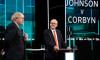 انتخابات کے سلسلے میں بورس جونسن اور اپوزیشن رہنما جیریمی کوربن کے درمیان ٹی وی پر مباحثہ